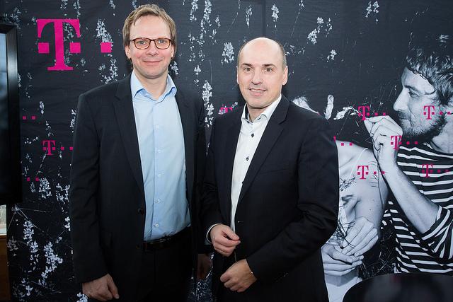 Jahrespressekonferenz T-Mobile Austria, CEO Andreas Bierwirth und CFO Stefan Groß