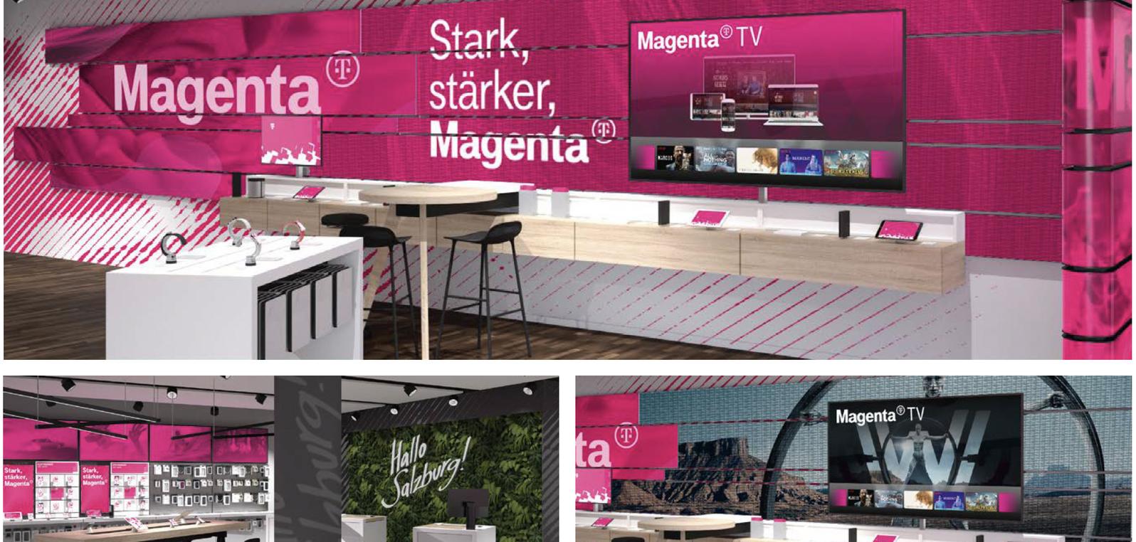 """Pressekonferenz """"Verschmelzung von T-Mobile und UPC."""" Presseaussendung Die Marke Magenta"""