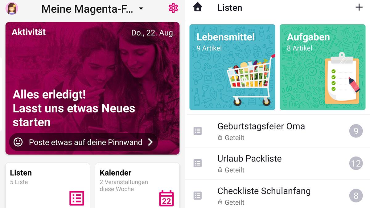 Neue Magenta-App erleichtert Familien die Organisation