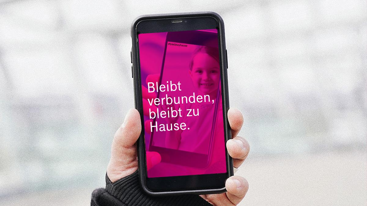 Bleibt verbunden, bleibt zuhause: Magenta Telekom unterstützt mit Botschaft zur Eindämmung des Coronavirus