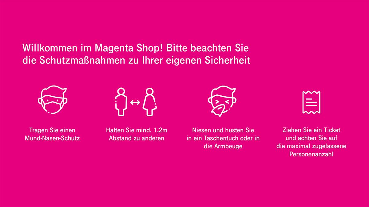 Magenta Shops ab 2. Mai wieder vollzählig geöffnet, Netzkennung auf Magenta-T- umgestellt