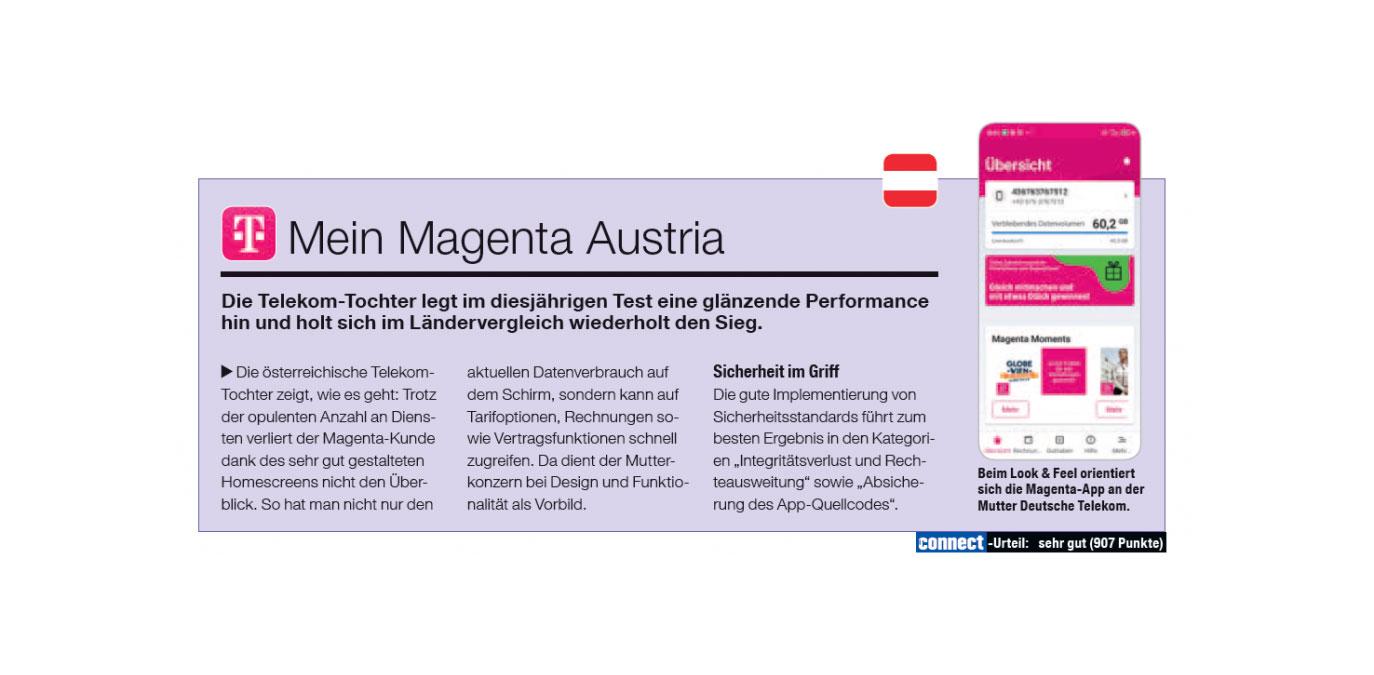 connect: Service-Testsieg für die Magenta Festnetz-Hotline und die Mein Magenta App